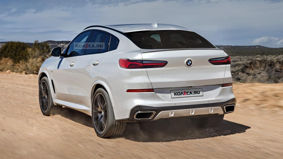 BMW X6 нового поколения: в Сети представлены первые изображения
