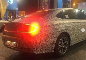 Новую Hyundai Sonata заметили на тестах в Дубае