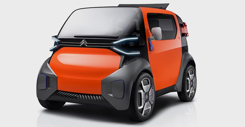 Ситроен представила сверхкомпактный городской электромобиль, который можно водить без прав