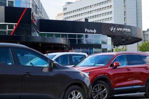 Автосалон Hyundai. Фото Бесплатный фотобанк