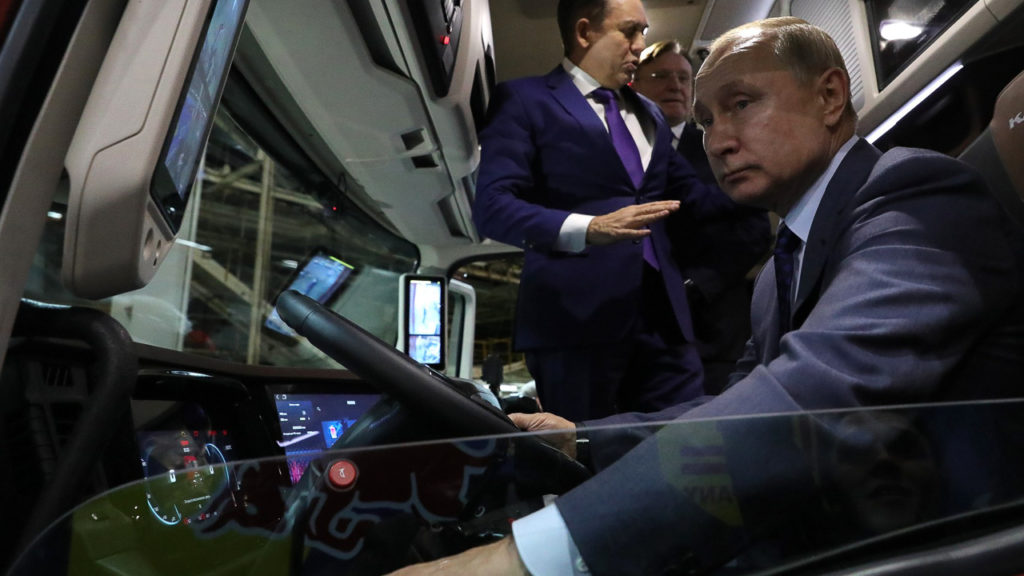 Визит Владимира Путина на завод КамАЗ в Набережных Челнах