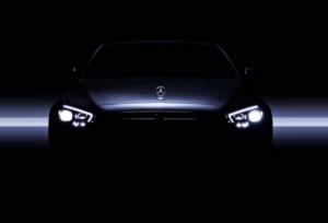 Mercedes-Benz E-Class Teaser. Фото Mercedes-Benz