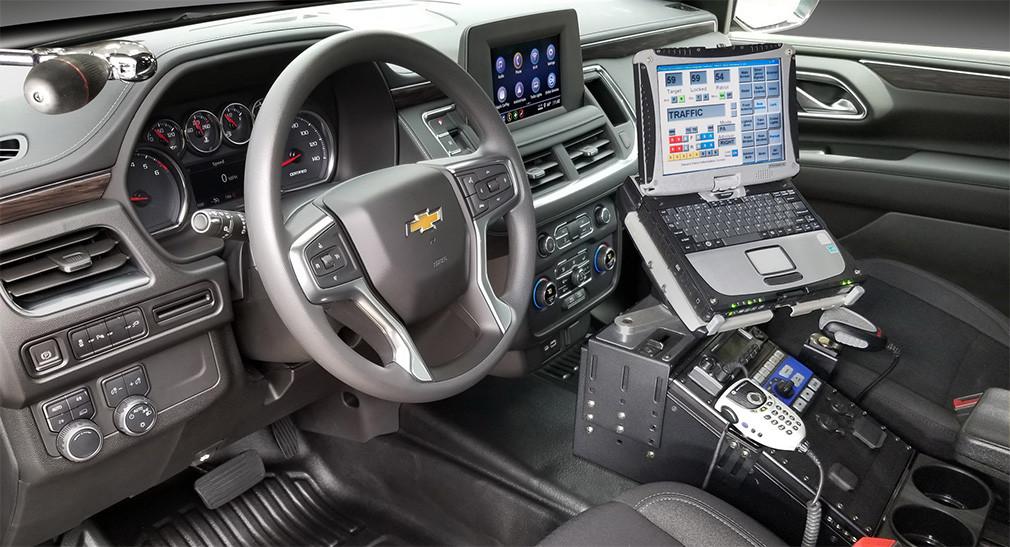 Салон полицейского Chevrolet Tahoe