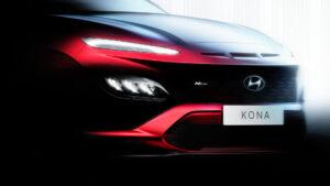Hyundai Kona N Line Teaser. Фото Hyundai