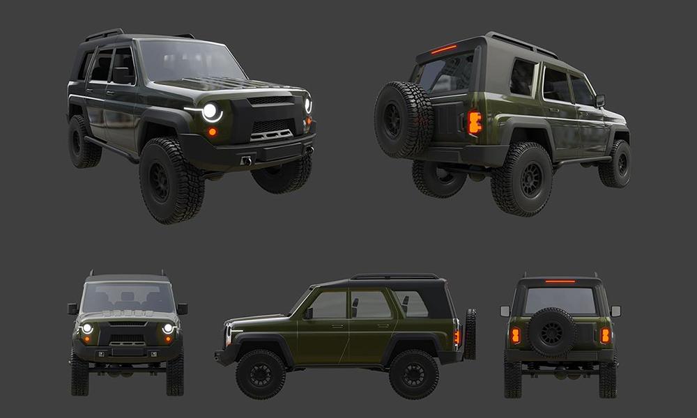 УАЗ обнародовал рендеры обновленного поколения УАЗ «Хантер»