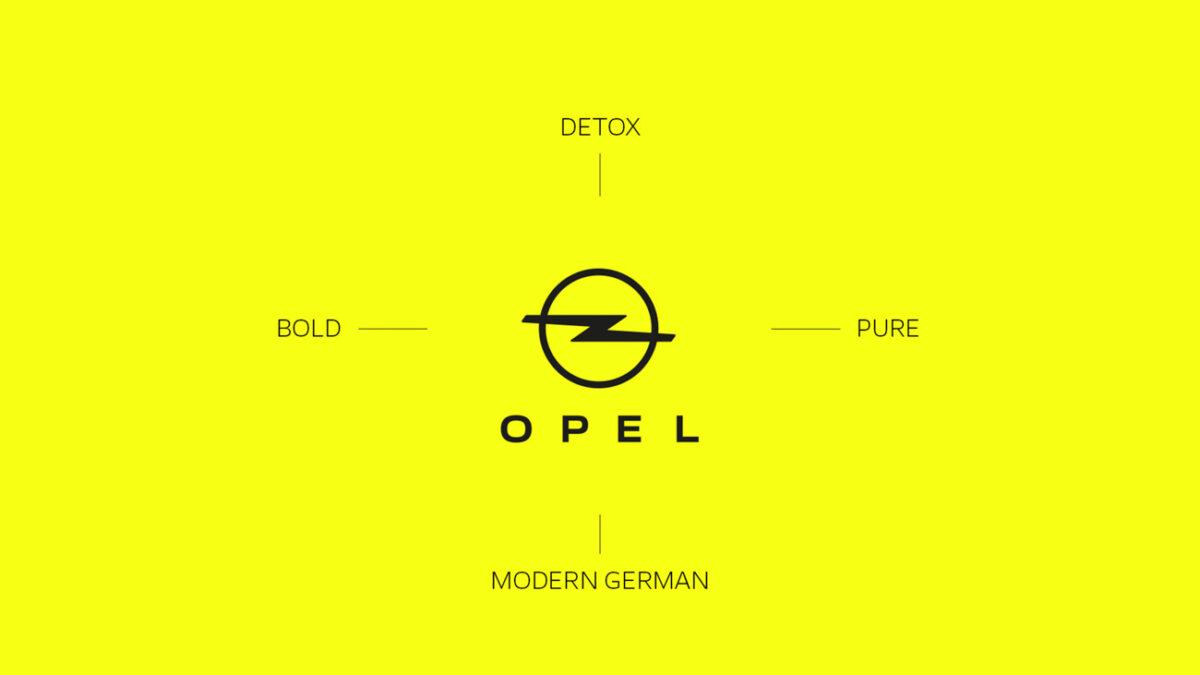 Опель представил новые знак ифирменный цвет бренда