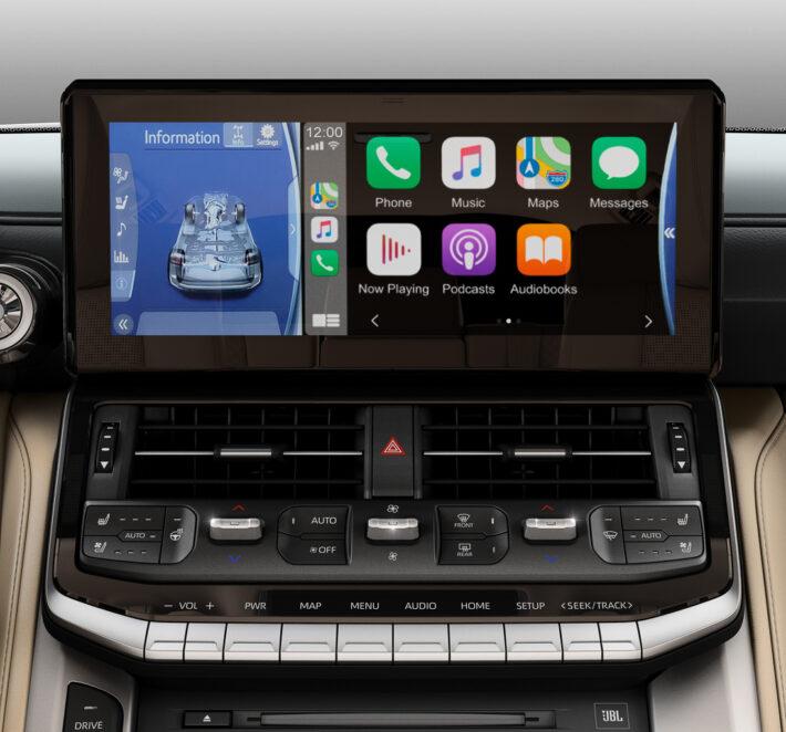 Мультимедийная система Toyota Land Cruiser 300. Фото Toyota